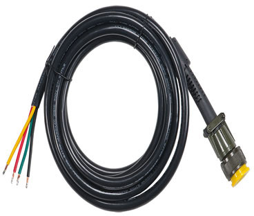 VC5090 DC Power Cable (without filter), 9' (SJTOW rated).