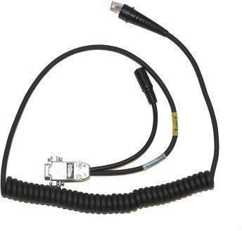 Cable, RS-232 TTL, connector: D 9 Pin F connector, TX data on pin 2, coiled, length: 2.3 m, external PSU required