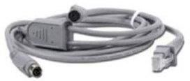Keyboard wedge cable, Mini-DIN, spiral, grey, 2.0 m, suitable for all Datalogic handhelds