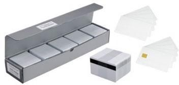 Plastic cards, without magnetic stripe, white, 30mil, 500 cards per box