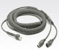 Cable KBW: PS/2, power port, 20 ft, coiled. Cable code K08