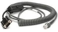Zebra cable, RS232 Nixdorf, 12ft. (3.7m), coiled