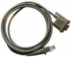 RS232 cable, 9-pin male, 3m lenght, Wincor Nixdorf terminal, for Honeywell scanner