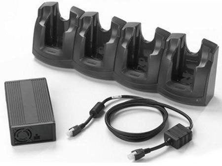 Cradle, Ethernet, 4 slots, incl.: power supply, DC line cord, order separately: power cord (C13), fits for: MC3XXX