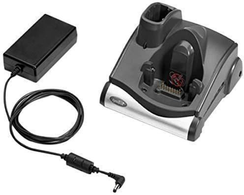Serial/USB single charger and cradle, with charging slot for battery, incl. power supply, order separately: line cord, interface cable, for Zebra MC9000