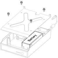 Battery MPU-4000, fits for Honeywell E-Class (does not attach to Pro+)