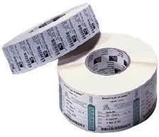 Duratran IIE Thermal Transfer Paper Labels, 76.2W x 25.4L, Permanent adhesive, 40 mm core, 110 mm OD, 1820 labels per roll, 12 rolls per carton, for desktop printers, pair with TMX2010 ribbon
