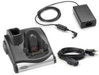 Serial/USB single charger and cradle, incl. power supply, line cord(US), order separately: interface cable, for Zebra MC9000