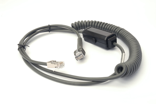 Cable - RS232: 9ft. (2.8m) Coiled, Verifone Ruby